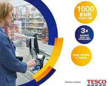 Plaťte s Visa v Tescu a vyhrajte!