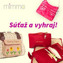 Súťaž o 3 kabelky pre maminky od Mimmo.sk