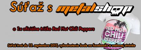 Súťaž o oficiálne tričko Red Hot Chili Peppers