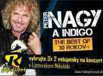 Súťaž o vstupenky na koncert Peter Nagy a Indigo