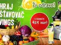 Vyhraj odšťavovač Kuvings v hodnote 429 eur!
