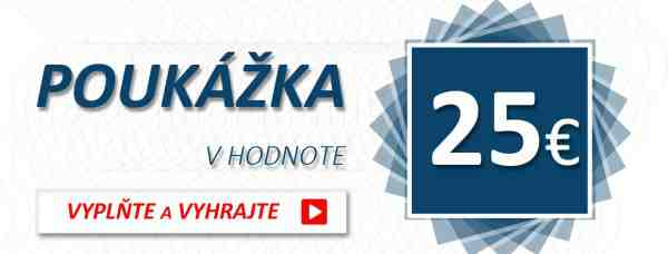 Vyhraj poukážku na nákup v hodnote 25 EUR