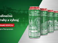 Vyhraj výlet do Prahy alebo limitovanú edíciu plechoviek piva Staropramen