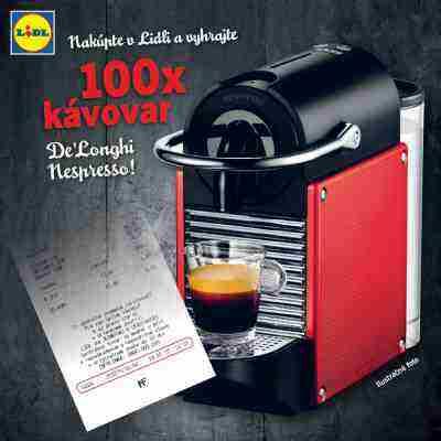 Nakúpte v Lidli a vyhrajte 100x kávovar De'Longhi