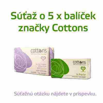 Súťaž o 5 balíčkov od firmy Cottons