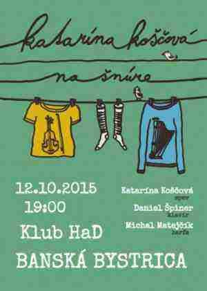 Súťaž o vstupenky – Katka Koščová na šnúre s harfistom, huslistom a klaviristom