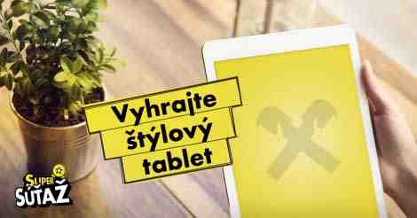 Vyhrajte štýlový tablet