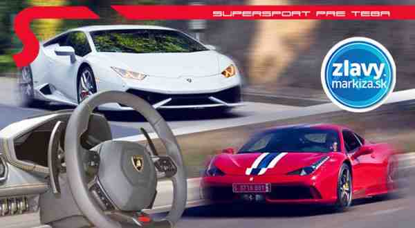 Vyhrajte adrenalínové jazdy na športových autách Lamborghini Huracán LP 610-4 alebo Ferrari F458 Italia