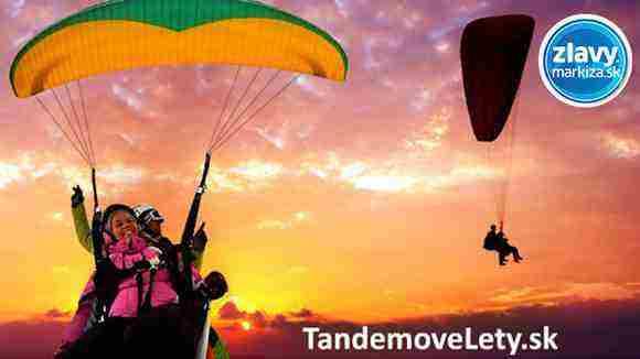 Vyhrajte adrenalínový tandemový let na padáku so skúseným pilotom