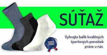 Vyhrajte balík kvalitných športových ponožiek
