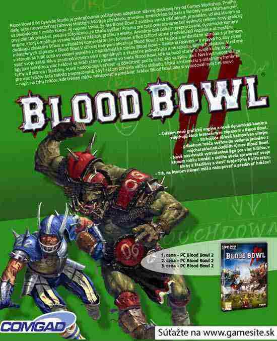 Súťaž o 3x PC Blood Bowl 2