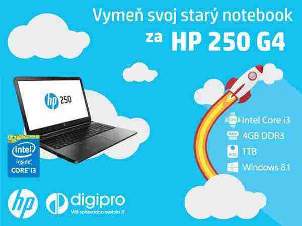 vyhrajte nový notebook HP 250 G4