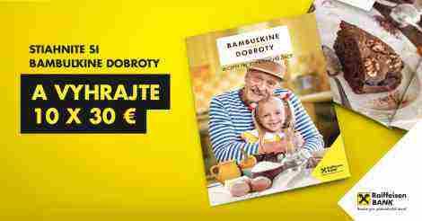 Stiahne si Bambuľkine dobroty a vyhrajte 10 x 30€