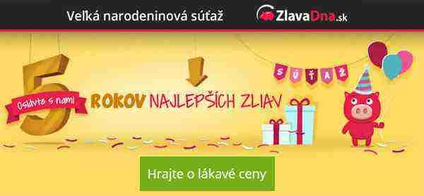 ZlavaDna.sk - veľká narodeninová súťaž o 25 cien!