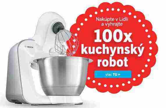 Nakúpte v Lidli a vyhrajte 100x kuchynský robot