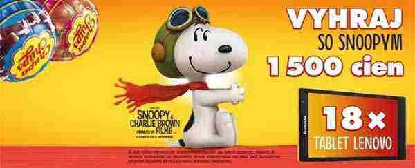 Kúp 3 výrobky Chupa Chups a vyhraj so Snoopym