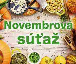Súťaž na november o najlepšie sladké aj nesladké jedlá