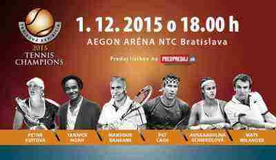 Súťaž o lístky na exhibíciu Tennis Champions 2015