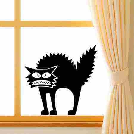 Súťaž o samolepku na okno - Naježená mačka