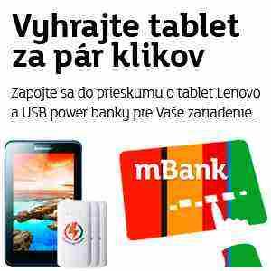 Súťaž o tablet Lenovo a 3 USB power banky
