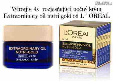 Vyhrajte 4x rozjasňujúci nočný krém Extraordinary oil nutri-gold