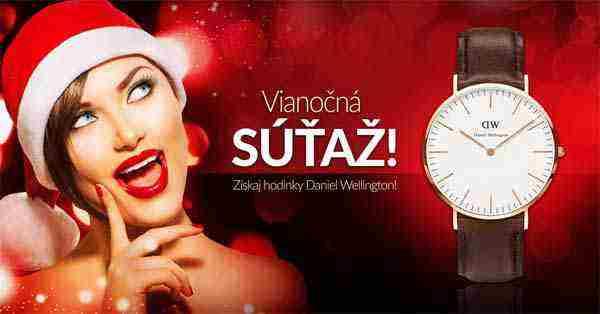 Veľká Vianočná súťaž o hodinky Daniel Wellington
