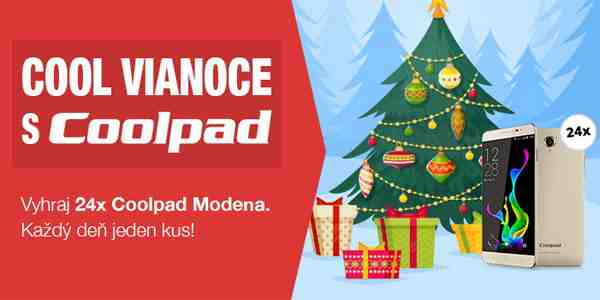 COOL Vianoce s COOLPAD, vyhrajte 24x Coolpad Modena!