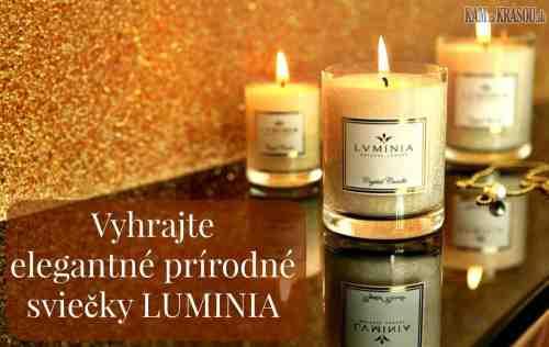 Súťaž o elegantné prírodné sviečky LUMINIA