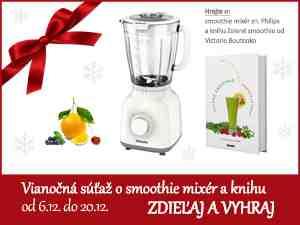 Súťaž o značkový smoothie mixér a smoothie knihu