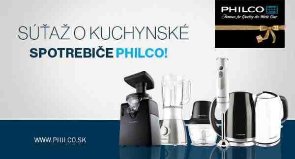 Vyhraj kuchynské spotrebiče Philco