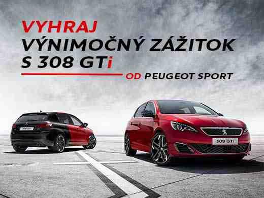 Vyhraj výnimočný zážitok s Peugeot 308 GTi od Peugeot Sport