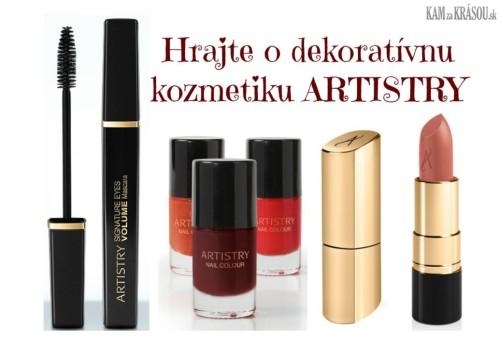 Hrajte o 3 balíčky luxusnej dekoratívnej kozmetiky ARTISTRY