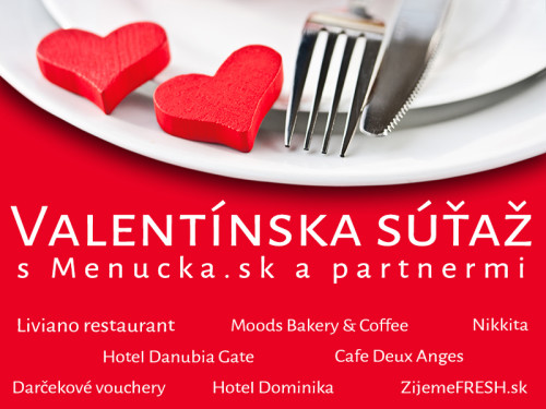 Valentínska súťaž s Menucka.sk a partnermi