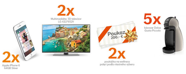 Aktualizujte si kontakty a súťažte o ceny v hodnote až 3000 eur!