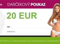Súťaž o darčekový poukaz v hodnote 20 Euro na nákup spodnej bielizne na www.rajpradla.sk