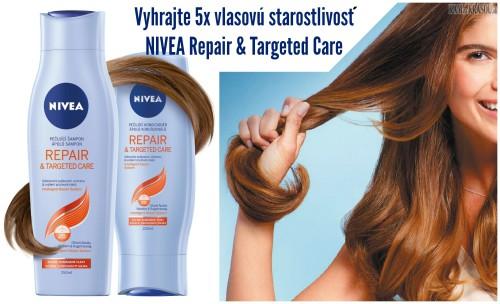 Vyhrajte 5x vlasovú starostlivosť NIVEA Repair & Targeted Care