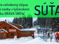Vyhrajte celodenný skipas pre dve osoby v lyžiarskom stredisko ORAVA SNOW