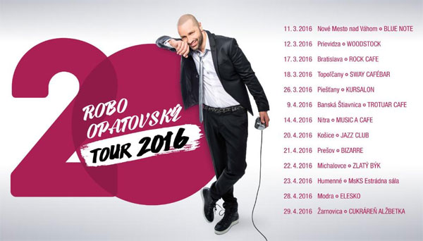 Robo Opatovský tour 2016