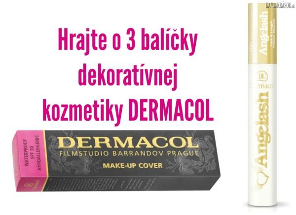 Hrajte o 3 balíčky dekoratívnej kozmetiky DERMACOL