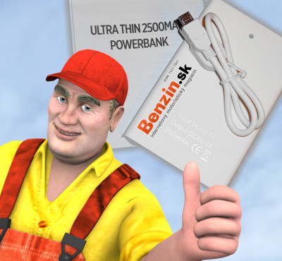 Vyhrajte externú batériu Ultra Thin 2500MAh Powerbank