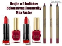 Hrajte o 5 balíčkov dekoratívnej kozmetiky Max Factor