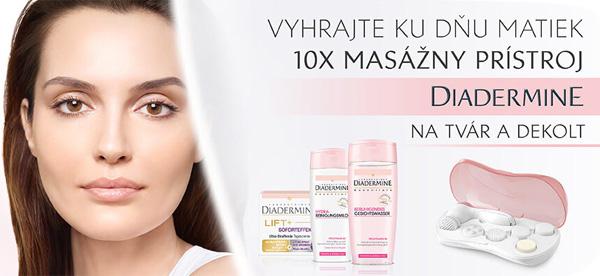 Súťaž o masážny prístroj na tvár a dekolt od Diadermine