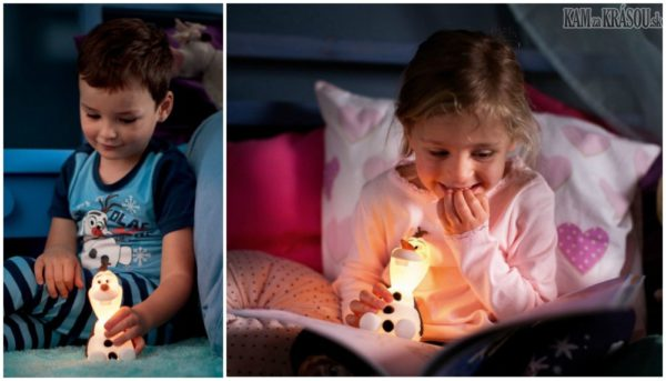 Hrajte o 3 svietidlá Philips SoftPal - s motívom z rozprávok Frozen a Spiderman
