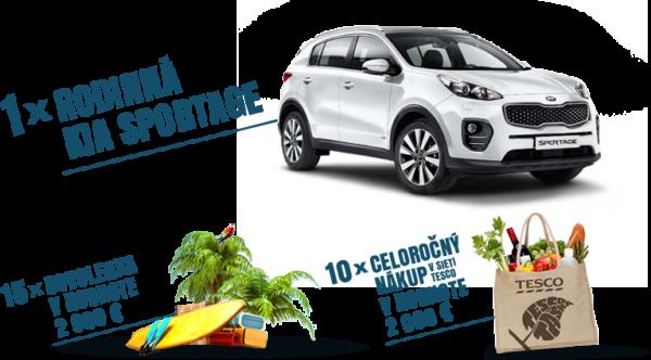 Nakupujte v Tescu s Clubcard a vyhrajte rodinnú Kia Sportage1