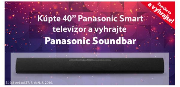 "Kúpte si 40"" Panasonic Smart televízor a vyhrajte Panasonic Soundbar!"