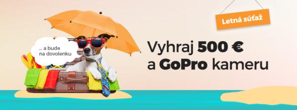 Letná súťaž o 500€ a GoPro