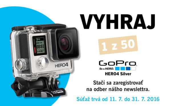 Súťaž o GoPro HERO 4 Silver Edition