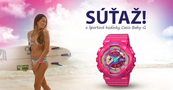 Vyhraj hodinky Casio z kolekcie Baby-G!