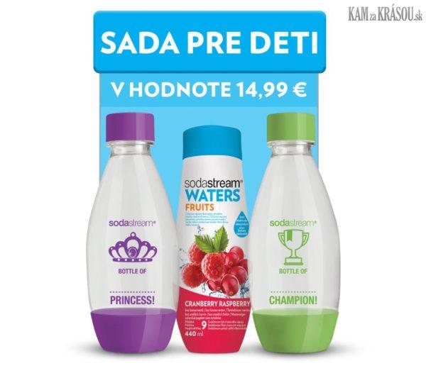 Vyhrajte so SodaStream 5 sirupov a originálnu fľašu