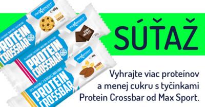 Vyhrajte viac proteínov a menej cukru s tyčinkami Protein Crossbar od Max Sport